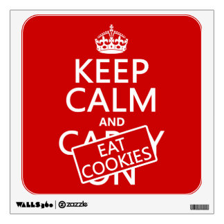 Keep Calm and Eat Cookies (customizable) Wall Sticker
