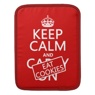Keep Calm and Eat Cookies Sleeve For iPads