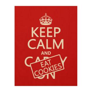 Keep Calm and Eat Cookies Wood Wall Art