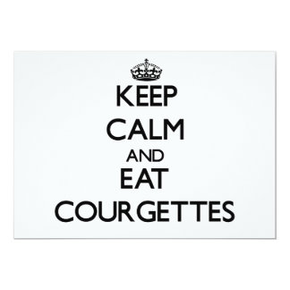 Keep calm and eat Courgettes 5x7 Paper Invitation Card