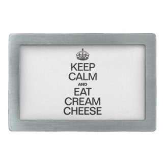 KEEP CALM AND EAT CREAM CHEESE BELT BUCKLES