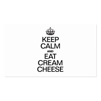 KEEP CALM AND EAT CREAM CHEESE Double-Sided STANDARD BUSINESS CARDS (Pack OF 100)