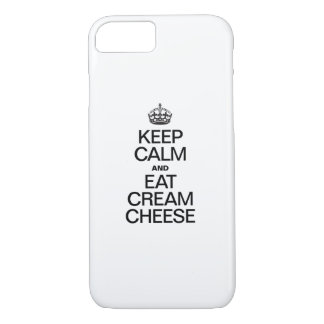KEEP CALM AND EAT CREAM CHEESE iPhone 7 CASE