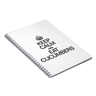 KEEP CALM AND EAT CUCUMBERS SPIRAL NOTE BOOKS