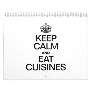 KEEP CALM AND EAT CUISINES CALENDAR