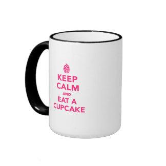 Keep calm and eat Cupcake Ringer Coffee Mug