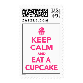 Keep calm and eat Cupcake Postage Stamps