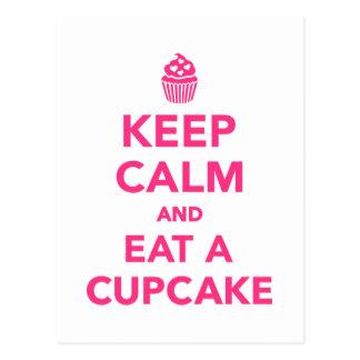 Keep calm and eat Cupcake Postcard