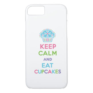 Keep Calm and Eat Cupcakes 1 pastel iPhone 7 case