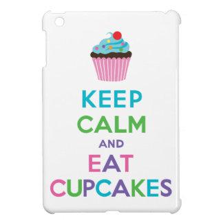 Keep Calm and Eat Cupcakes 2 white iPad mini case