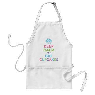 Keep calm and eat cupcakes apron