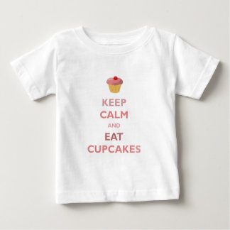 Keep Calm And Eat Cupcakes Baby T-Shirt