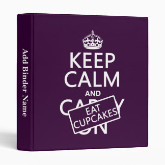 Keep Calm and Eat Cupcakes Binder
