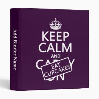 Keep Calm and Eat Cupcakes Binder