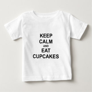 Keep Calm and Eat Cupcakes black blue gray Baby T-Shirt