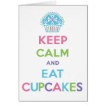 Keep Calm and Eat Cupcakes card