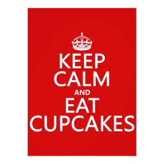 Keep Calm and Eat Cupcakes Card