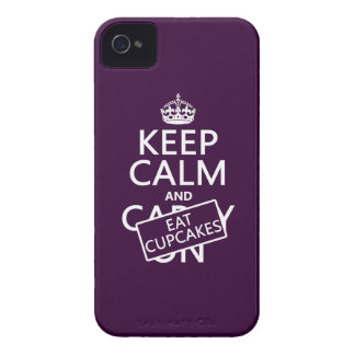 Keep Calm and Eat Cupcakes Case-Mate iPhone 4 Cases