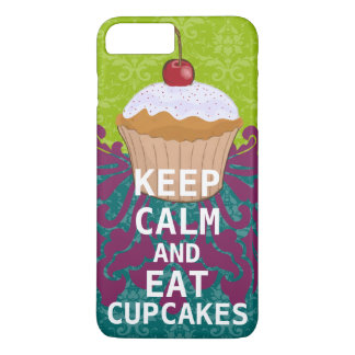 KEEP CALM AND Eat Cupcakes-change aqua any color iPhone 8 Plus/7 Plus Case