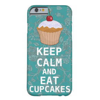 KEEP CALM AND Eat Cupcakes-change plum any color Barely There iPhone 6 Case