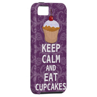 KEEP CALM AND Eat Cupcakes change Purple any color iPhone SE/5/5s Case