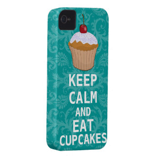 KEEP CALM AND Eat Cupcakes change teal any color iPhone 4 Case