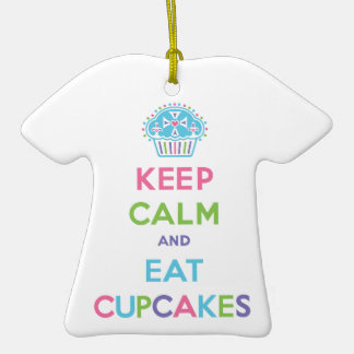 Keep Calm and Eat Cupcakes Christmas Ornaments