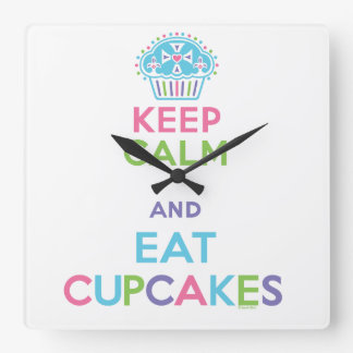 Keep Calm and Eat Cupcakes clock