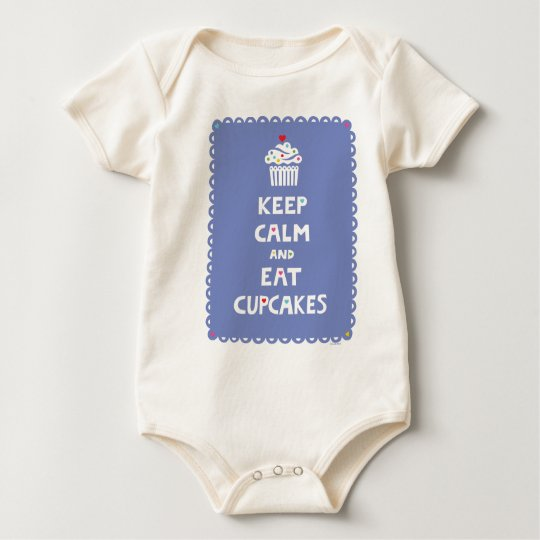 Keep Calm and Eat Cupcakes - frilly Baby Bodysuit