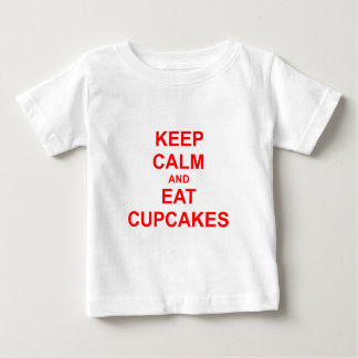 Keep Calm and Eat Cupcakes green pink red Baby T-Shirt
