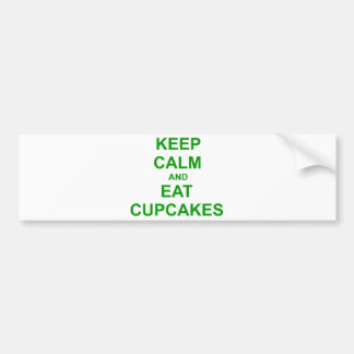 Keep Calm and Eat Cupcakes green pink red Bumper Sticker