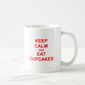 Keep Calm and Eat Cupcakes green pink red Classic White Coffee Mug