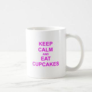 Keep Calm and Eat Cupcakes green pink red Coffee Mug