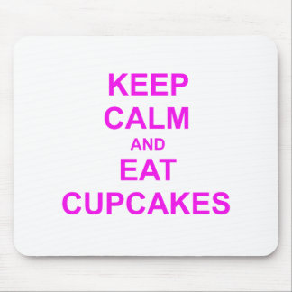 Keep Calm and Eat Cupcakes green pink red Mouse Pads