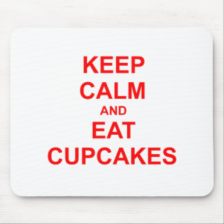 Keep Calm and Eat Cupcakes green pink red Mouse Pad