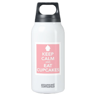 Keep Calm and Eat Cupcakes Insulated Water Bottle