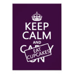 Keep Calm and Eat Cupcakes Invitations