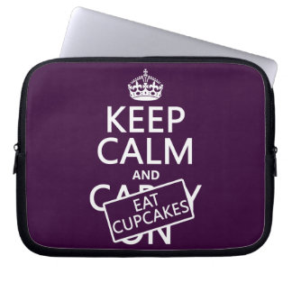Keep Calm and Eat Cupcakes Laptop Sleeve
