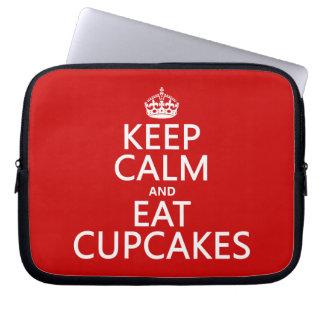 Keep Calm and Eat Cupcakes Laptop Sleeve