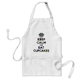 Keep Calm and Eat Cupcakes - mondrian Aprons