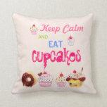 Keep Calm and eat Cupcakes Pillow