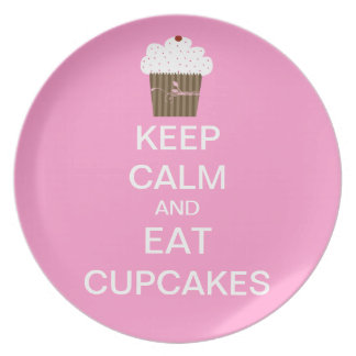 KEEP CALM and EAT CUPCAKES Plate