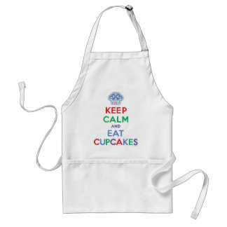 Keep calm and eat cupcakes primary adult apron
