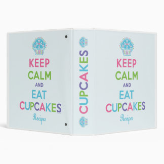 Keep calm  and eat cupcakes - recipe binder