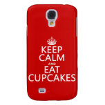 Keep Calm and Eat Cupcakes Samsung Galaxy S4 Case