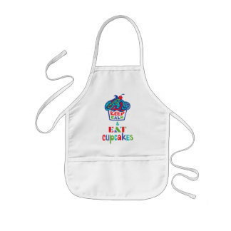 Keep Calm and Eat Cupcakes - trippy Kids' Apron