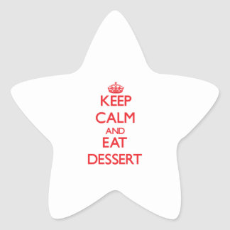 Keep calm and eat Dessert Stickers