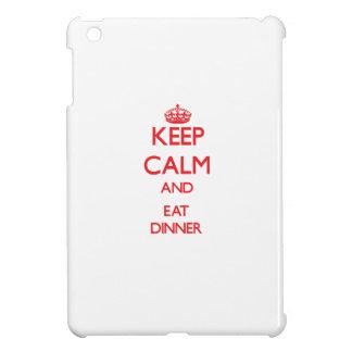 Keep calm and eat Dinner iPad Mini Cover