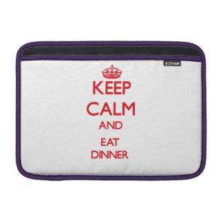 Keep calm and eat Dinner MacBook Sleeve