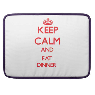 Keep calm and eat Dinner Sleeves For MacBooks